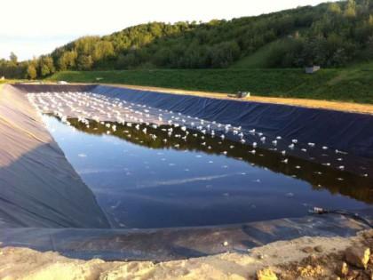 Sickerwasserbecken Frankreich