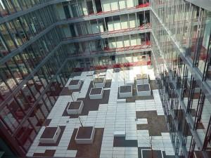 Dach Innenhof Hauptverwaltung Würth